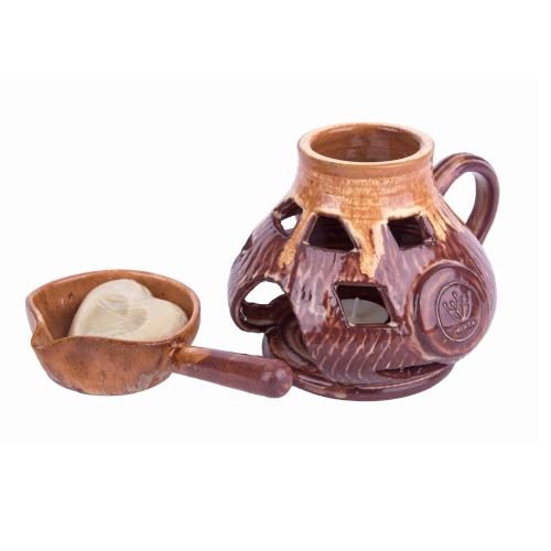 HORKÝ VOSK-masážní set /aroma lampa, svíčka, masážní voskové tyčinky 20 g - balení á 10 ks/