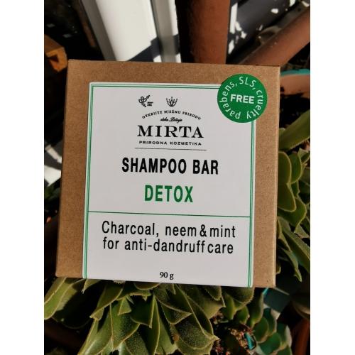 "Energizující tuhý šampon ""DETOX"", 90 g"