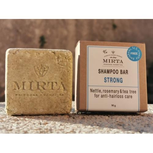 "Energizující tuhý šampon ""STRONG"", 90 g"