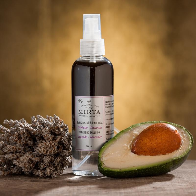 Čistící emulze s avokádovým a levandulovým olejem