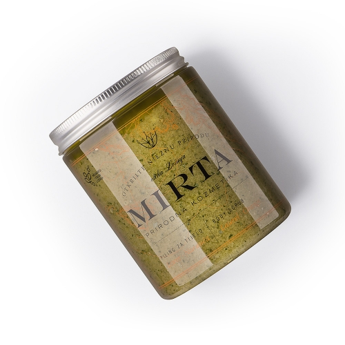 Přírodní peeling s obsahem levandule a rozmarýnu.